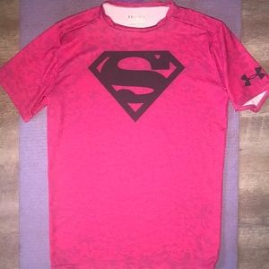 ❤️ Pink Superman Under Armour Compression Tee ❤️